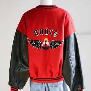 Vintage Roots Wool Leather Varsity Jacket